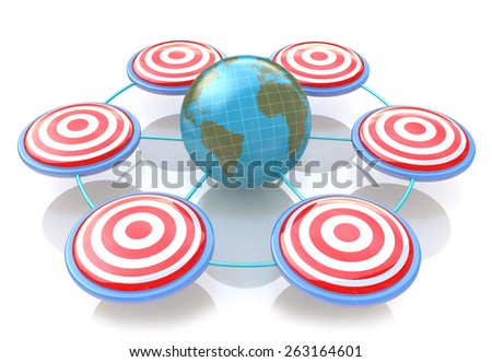 Network of global goals  - stock photo