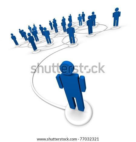 Network of People - Communication Links - stock photo