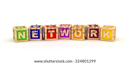Network Play Cubes - stock photo