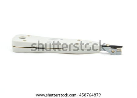 Network Punch Down Tool / Network Insertion Tool / LSA Termination Tool For Patch Panel - stock photo