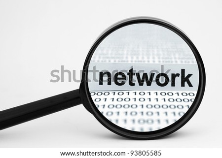 Network search - stock photo
