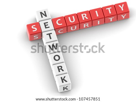 Network security - stock photo