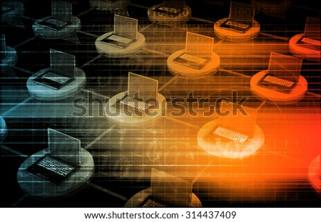 Network Security and Data Information Protection Art - stock photo