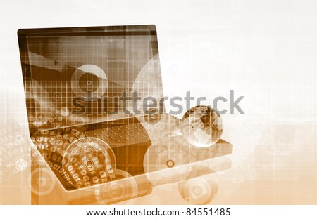 Network Security as a Art Abstract Background - stock photo