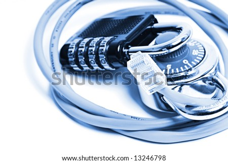 network security concept - stock photo