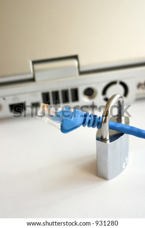 Network security - see my portfolio for similar images - stock photo