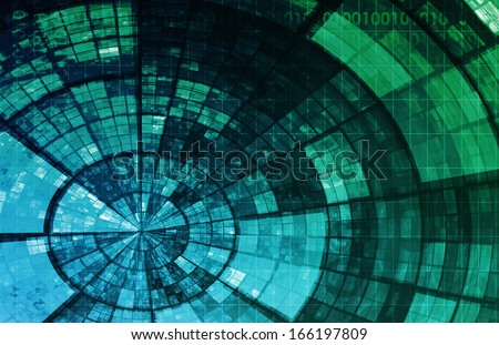 Network Security With Internet Data as Concept - stock photo
