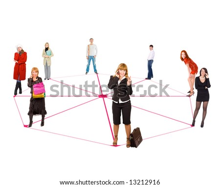 "network  - See similar images of this ""Business People"" series in my portfolio - stock photo"
