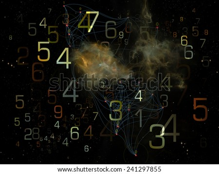 Network series. Abstract design made of connected abstract elements on the subject of networking, science, education and modern technology - stock photo