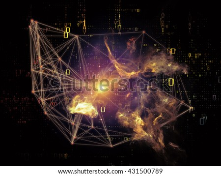 Network series. Backdrop composed of connected abstract elements and suitable for use in the projects on networking, science, education and modern technology - stock photo