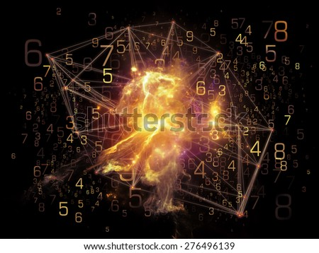 Network series. Composition of connected abstract elements on the subject of networking, science, education and modern technology - stock photo