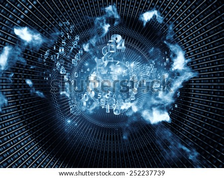 Network series. Design composed of connected abstract elements as a metaphor on the subject of networking, science, education and modern technology - stock photo