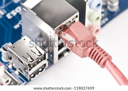 Network Server - stock photo