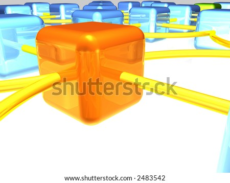 network server and workstation - stock photo