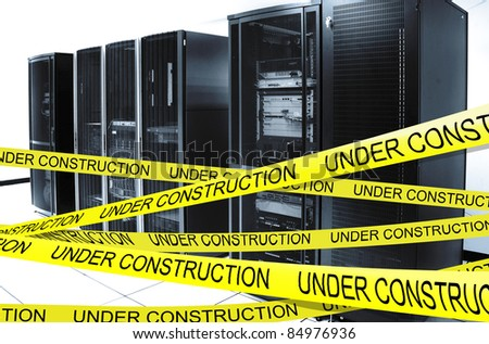 Network server under construction - Server down - stock photo