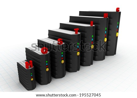network servers in data centre isolate on white background 	 - stock photo