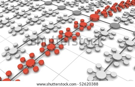 Network structure business concept background 3d illustration
