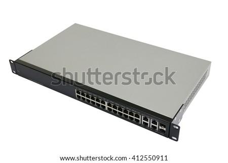 Network switch  - stock photo