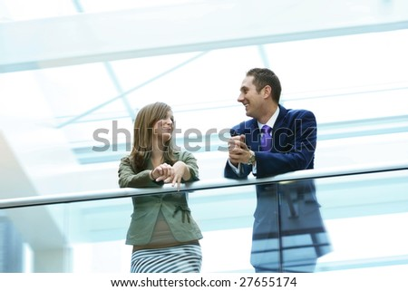Networking and Flirting - stock photo