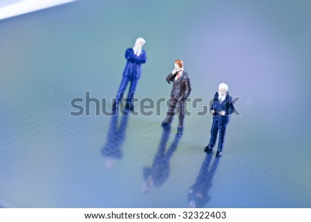 Networking business people - stock photo