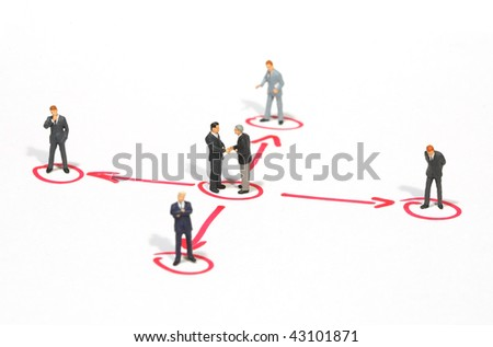 networking business people metaphor - stock photo