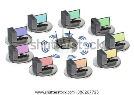 networking computing concept with router