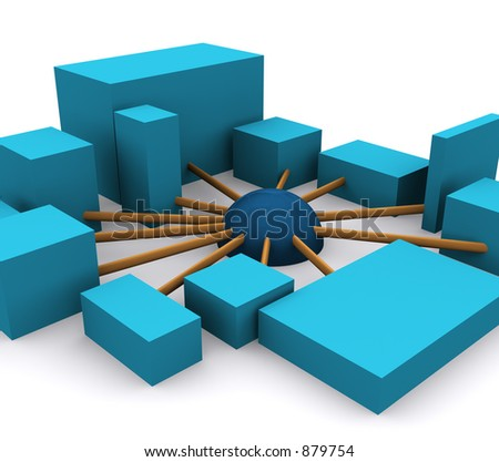 networking 1 (part of a series) - stock photo