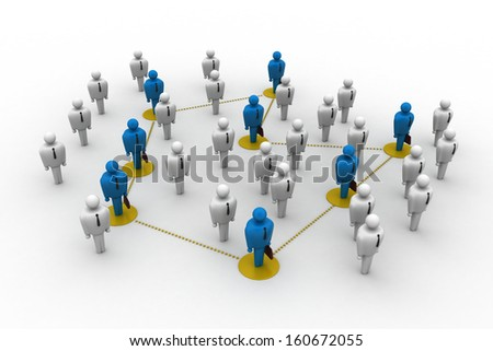 Networking people - stock photo