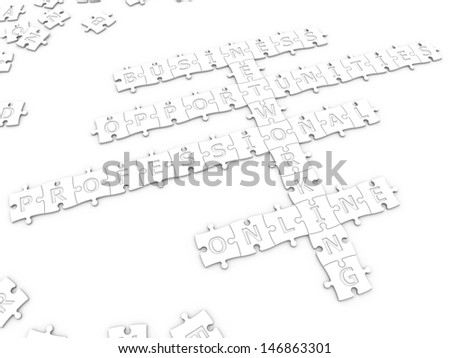 networking with clipping path - stock photo