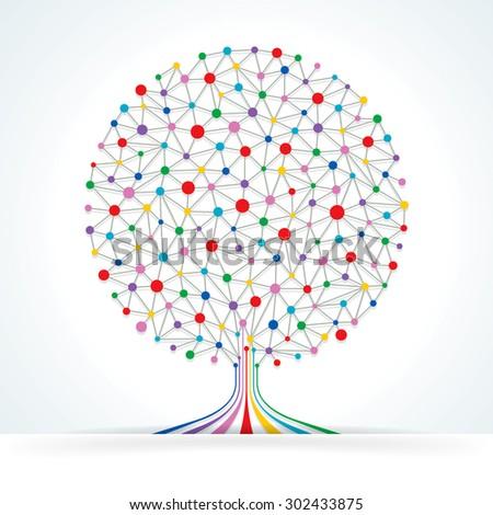 Networks Tree. - stock photo