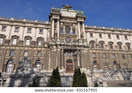Neue Burg at the Hofburg Palace former imperial palace in Wien, Austria