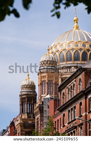 """Neue Synagoge (""""New Synagogue"""") in Berlin. - stock photo"""