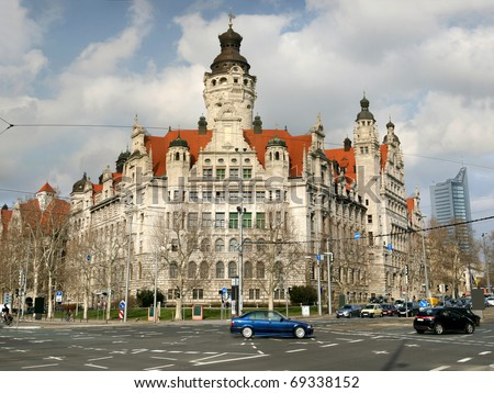 Neues Rathaus (new town hall) in Leipzig, Germany - stock photo