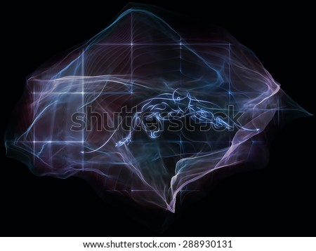 Neural Paperweight series. Background composition of  abstract shapes, colors and elements to complement your layouts on the subject of mind, virtual reality, technology, science and design