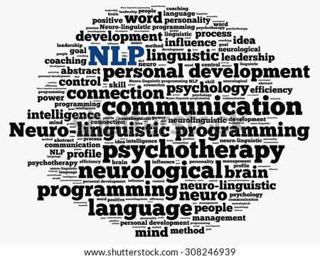 Neuro-linguistic programming in word collage - stock photo