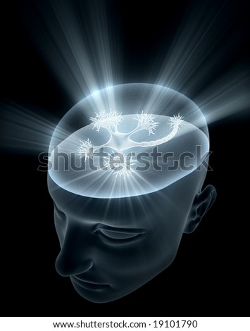 Neuron Head - stock photo
