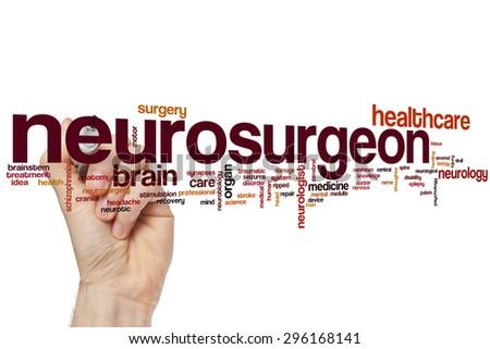 Neurosurgeon word cloud concept - stock photo