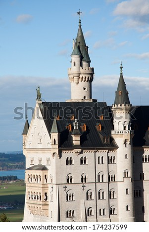 Neuschwanstein Castle - Bavaria - stock photo