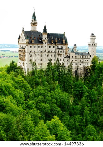 Neuschwanstein Castle in Germany - stock photo