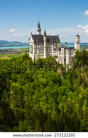 Neuschwanstein Castle in the Bavarian Alps.