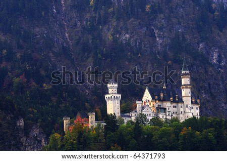 Neuschwantein castle - stock photo