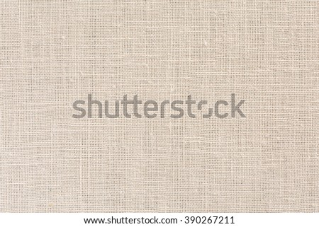 Neutral beige Linen Fabric Background with clear Canvas Texture Close Up - stock photo