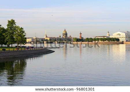 Neva River, St. Petersburg, Russia. - stock photo
