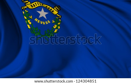 Nevada flag - USA state flags collection no_3 - stock photo