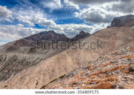 Nevada-Great Basin National Park-Wheeler Peak Trail. This image was created on a beautiful day in this high elevation National Park. - stock photo