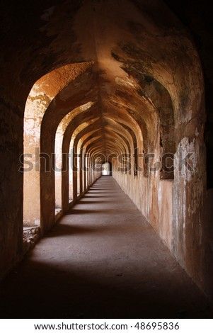 Never ending arches. - stock photo