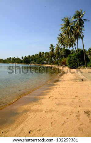 Never ending gorgeous beach on Rabbit Island, Cambodia. Always lonely for you to enjoy it and relax!