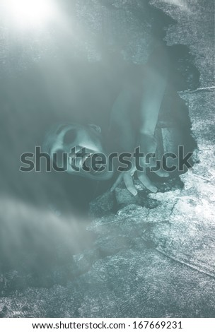 Never Leave Me Alone Part 2,Behind The Mist - stock photo