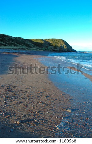 New Aberdour beach in Aberdeenshire - stock photo