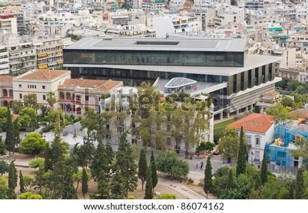 New Acropolis museum, Athens, Greece - stock photo